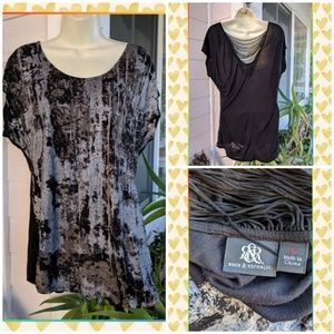 🌟🌟🌟ROCK & REPUBLIC ABSTRACT PRINT TUNIC🌟🌟🌟